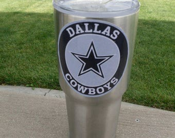 Cowboys Vinyl Decal For Tumblers Cups Fits 20oz & 30oz Sizes Free Shipping Buy Any 2 Decals, Get 1 FREE! YETI/RTIC /Ozark Trail