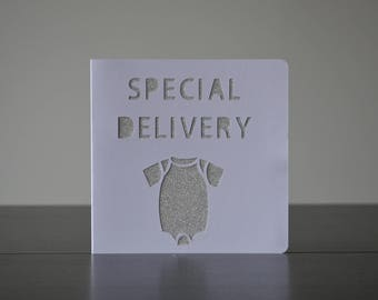 Special Delivery, New arrival, Baby Card