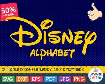 Disney Font SVG Disney Monogram SVG Disney Alphabet Svg Cut Files Walt Disney Letters SVG Dxf Silhouette Cricut Cut File Disney Vinyl font