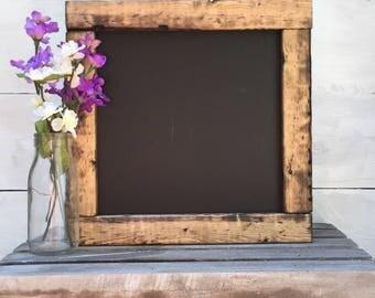 WOOD FRAMED CHALKBOARD | farmhouse chalkboard | 12x12