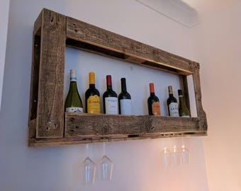 Picture of wine - Unusual wine and glasses display cabinet