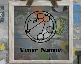 Your Name in Circular Gallifreyan Decal