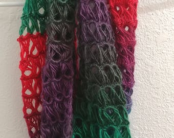 Broomstick Stitch Infinity Scarf