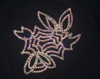 Stunning laser cut rhinestone hair jewelry
