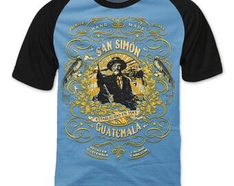 San Simón Guatemala Cigar Label Raglan sleeve T-shirt