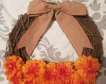 Small Autumn Wreath - Orange