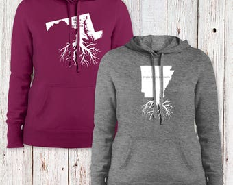RootWear Ladies' Pullover Hooded Sweatshirt - Available in All 50 States!!