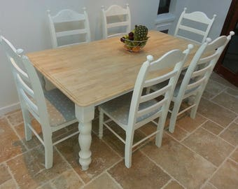 Stunning 6ft Shabby chic table set