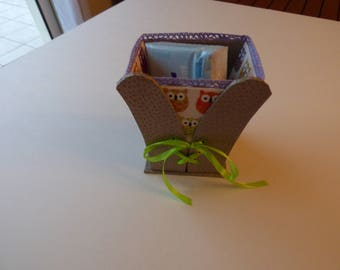 small basket skivertex cardboard and fabric