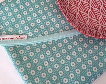 Nappe ronde toile de coton enduit motif mosaïque étoiles