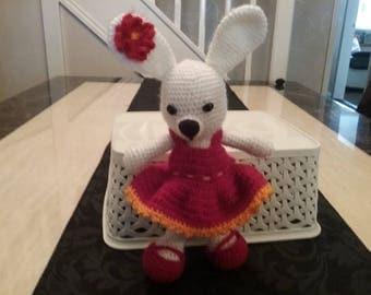 Amigurumi crochet rabbit
