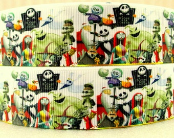 Nightmare before christmas ribbon | Etsy UK