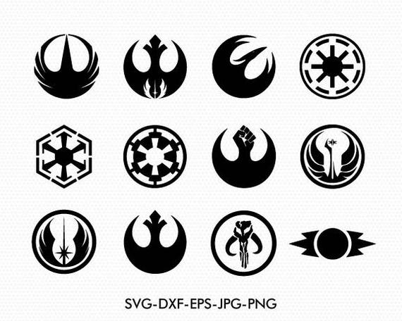 star wars svg logos symbols and logo svg dxf for silhouette