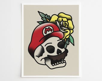 Classic Video Game Tattoo Skulls