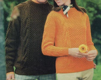 Jumper / Sweater, Knitting Pattern, Instant Download.