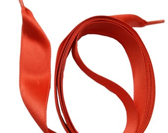 SNORS-Satin laces-satin laces reddish brown, 2 lengths, approx. 16mm