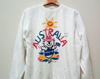 Sweatshirt Australia Kem Done Big Logo Spell Out Camping