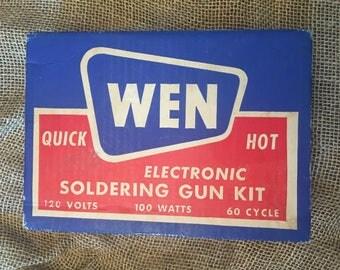 Vintage WEN Electronic Soldering Gun Kit