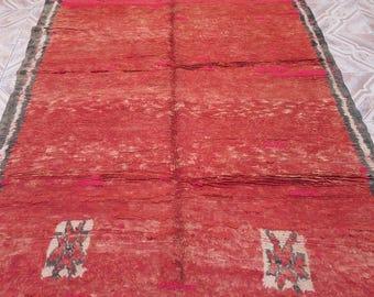Vintage moroccan carpet, berber carpet, handwoven carpet, moroccan rug, berber rug, Rhamna moroccan carpet