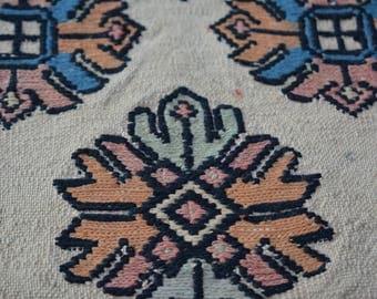 Vintage Persian Handmade Caucasian kilim rug