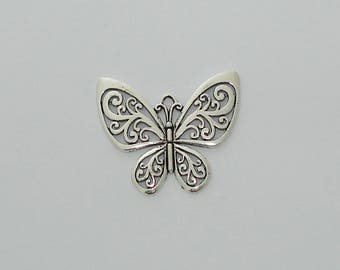 1 pendant antique silver openwork Butterfly - Ref: PA 261