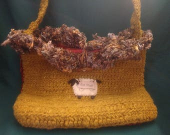 Handspun shoulder bag