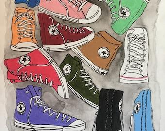 Converse Colorful Canvas Art