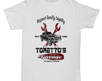 Toretto's Garage Inspired Fast And Furious Film Movie Fate Grey USA T Shirt