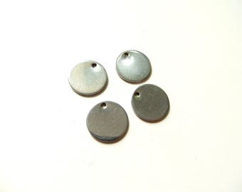 4 sequins stainless steel round 13mm