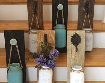 Farmhouse - Mason Jar - Wall Sconce - Vase - Rustic