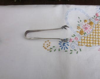 Vintage Sterling Silver Tongs, E Gundlach CO