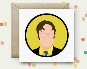 The Office Square Pop Art Card & Envelope