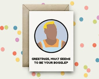 Demolition Man Pop Art and Quote A6 Blank Greeting Card with Envelope