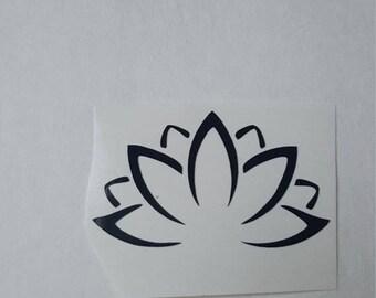 Lotus Decallotus,decals,vinyl deccals,vinyl stickers,meditation decals, yoga decals, zen decals