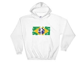 Jiu Jiu Jitsu de Brazil Hooded Sweatshirt for brazilian Jiu Jitsu, BJJ, grappling, martial arts and MMA