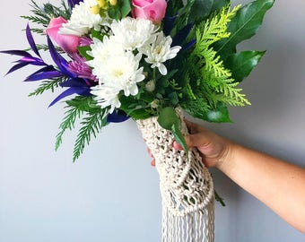 Macrame Bouquet Wrap/Boho/Modern/Wedding