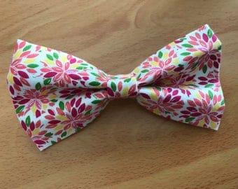 Floral Burst Dog Bow Tie