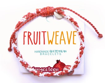 MANGOSTEEN FUN BRACELET, Guatemalan Bracelets, Handmade bracelets, colorful bracelets, fruit based, fruit weave, friendship bracelets.