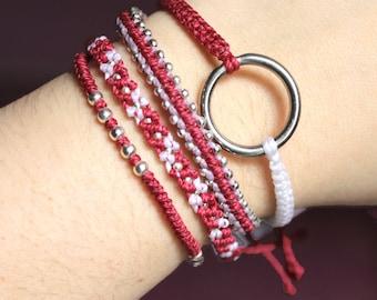 Mangosteen Fancy Combo Bracelets, Guatemalan Bracelets, Handmade bracelets, colorful bracelets, fruit based, weave, friendship bracelets.