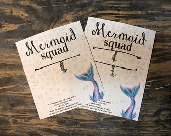 Squad goals wish bracelet.Mermaid squad wish bracelet.Mermaid wish bracelet.Best friend Mermaid bracelets.Mermaid charm bracelet.