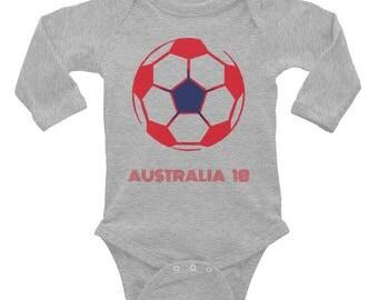Australia Onesie | Australia Soccer Infant Long Sleeve Bodysuit