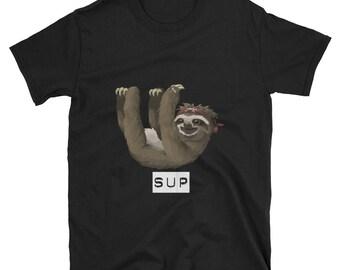 Sloth shirt, sloth gift, sloth t-shirt, sloth t shirt, animal shirt, funny shirt, lazy shirt, hipster shirt, funny sloth, sloth clothes, hip