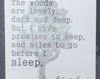 Robert Frost quote wood wall art