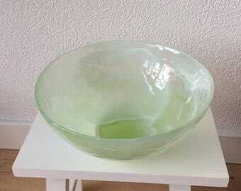 Scale-green-white cloud glass
