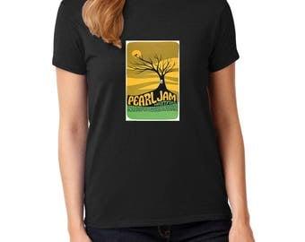 Pearl Jam concert rock music t-shirt 100% cotton women's tee