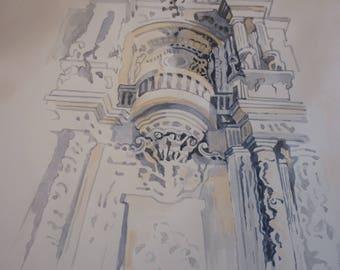 Architecture - Watercolor 50x35 sm.