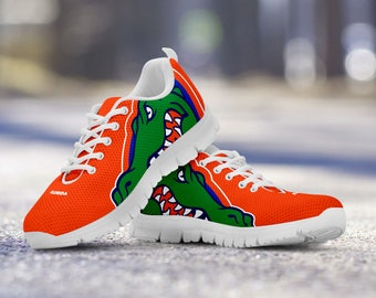 Florida Gators Football Fan Custom Running Shoes/Sneakers/Trainers - Ladies + Mens Sizes
