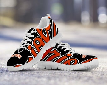 Baltimore Orioles Baseball Fan Custom Running White Shoes/Sneakers/Trainers - Ladies + Mens Sizes