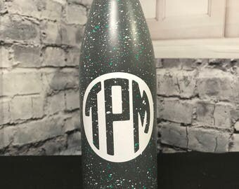 Personalized Splattered Water Bottle