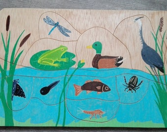 "Puzzle story ""The pond animals"""